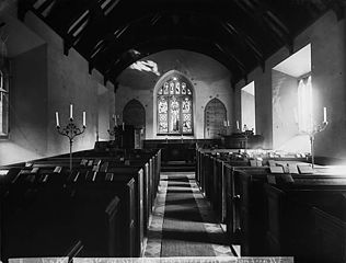 The interior of the church, Manafon