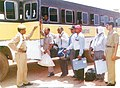 The polling personnel carrying polling materials for the first phase of General Elections-2004 in Raipur, Chattisgarh on April 19, 2004.jpg