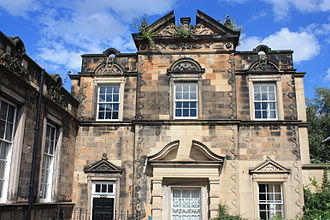 Alexander Black (architect) - Rear entrance in High School Yards to Black's Heriot School on the Cowgate