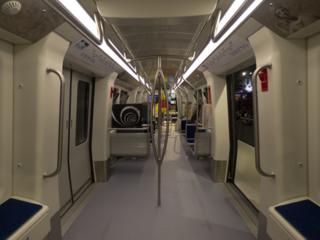 A metro system in Thessaloniki, Greece.