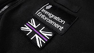 Immigration Enforcement - A Thin Purple Line (UK) patch as seen on an IE uniform fleece.