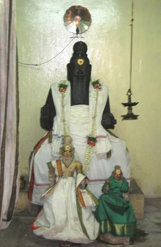 Thiruvalluvar - Statue of Valluvar in the Thiruvalluvar Temple, Mylapore