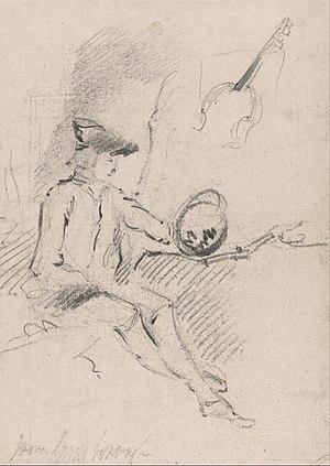 "Claude glass - ""Man Holding a Claude Glass"" by Thomas Gainsborough"