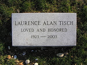 Laurence Tisch - The footstone of Laurence Tisch