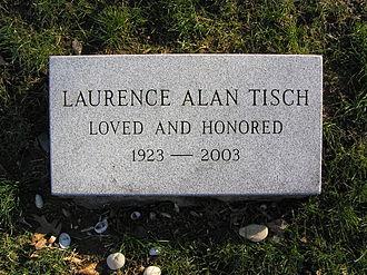 Laurence Tisch - The footstone of Laurence Tisch