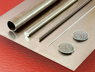 Titanium - Basic titanium products: plate, tube, rods, and powder
