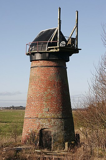 Toft Monk's windpump Toft Monks Mill, Haddiscoe.jpg