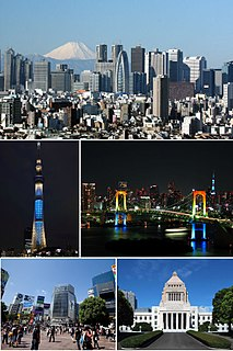 Tokyo Capital of and largest city in Japan