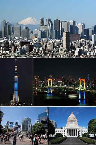 "Clockwise from top: <a href=""http://search.lycos.com/web/?_z=0&q=%22Shinjuku%2C%20Tokyo%22"">Nishi-Shinjuku</a>, <a href=""http://search.lycos.com/web/?_z=0&q=%22Rainbow%20Bridge%20%28Tokyo%29%22"">Rainbow Bridge</a>, <a href=""http://search.lycos.com/web/?_z=0&q=%22National%20Diet%20Building%22"">National Diet Building</a>, <a href=""http://search.lycos.com/web/?_z=0&q=%22Shibuya%2C%20Tokyo%22"">Shibuya</a>, <a href=""http://search.lycos.com/web/?_z=0&q=%22Tokyo%20Skytree%22"">Tokyo Skytree</a>"