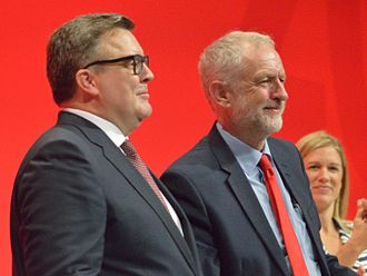 Tom Watson (Labour politician) - Watson and Labour leader Jeremy Corbyn at the 2016 Labour Party Conference