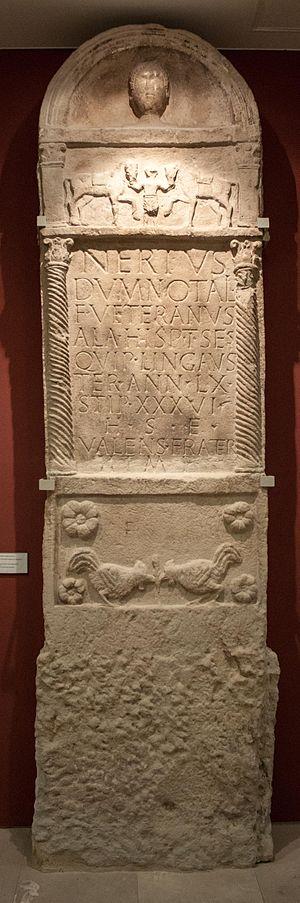 Roman funerary art - Image: Tombstone of Nertus