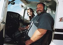 Pilot Tony Christiansen flies the Cessna 172.