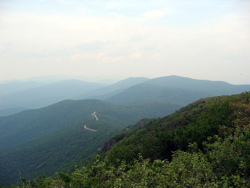 Paypay:Top of stonyman summit view Shenandoah nP 2007.jpg