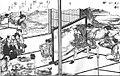 Tora-ken (虎拳), Japanese rock-paper-scissors variant, from the Kensarae sumai zue (1809).jpg