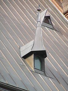 Metal roof roof made of metal