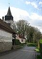 Toutencourt rue vers église et motte castrale 1a.jpg