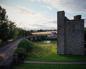 St. John's Priory, Trim - View of the main tower looking over Newtown Bridge and the Boyne.