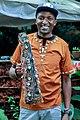 Traditional Kikuyu Musical Ornament called Gichande in its bag.jpg