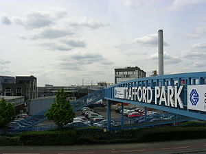 Stretford - Entrance to Trafford Park industrial estate