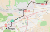 100px tram map of cluj napoca