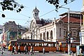 Trams in Sofia in front of Central Market Hall 2012 PD 19.JPG