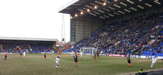 Sheffield United plays away to Tranmere Rovers in 2013. Trfc v sufc 2013 IJA 02.png
