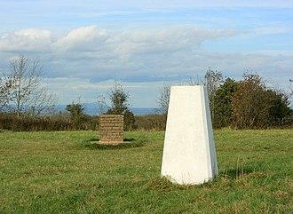 Stinchcombe - Image: Trigpoint and toposcope Stinchcombe Hill geograph.org.uk 1024492