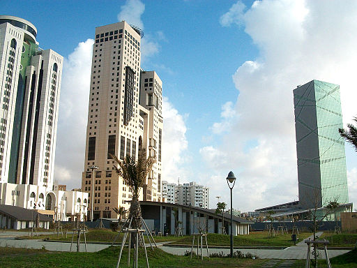 Tripoli Central Business District from Oea Park
