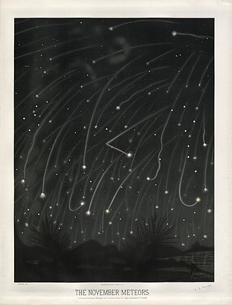 Leonids - The November Meteors by Étienne Léopold Trouvelot, 1868