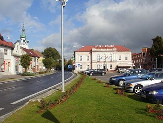 Trstená - M. R. Štefánik square, the main square of Trstená