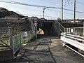 Tunnel of Nishitetsu Kaizuka Line near Tonoharu Station.jpg