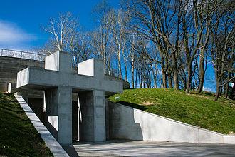 Tuskulėnai Manor - Entrance to the columbarium in Tuskulėnai, containing the remains of the victims