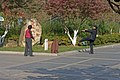 Two old Chinese people are making exercise outside (Nanjing, China, 2008).jpg