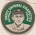 Ty Cobb, Detroit Tigers (green), from the Domino Discs series (PX7), issued by Kinney Brothers MET DP869255.jpg