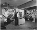 "U.S. Army Arts Projects at Fort Belvoir, Virginia, ""Here are four of the soldier-artists working on their murals. - NARA - 195372.tif"