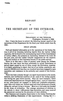U.S. Department of the Interior Annual Report 1886.djvu