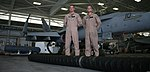 U. S. Marine Capt. Brian Hansell and Capt. Albert Garcia IV, both Marine Fighter Attack Squadron 122 F-A-18 Hornet pilots, passed the final requirements to receive the fighter attack instructor designation 120906-M-JU941-893.jpg