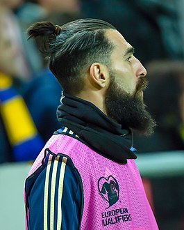 UEFA EURO qualifiers Sweden vs Romaina 20190323 Jimmy Durmaz (cropped).jpg