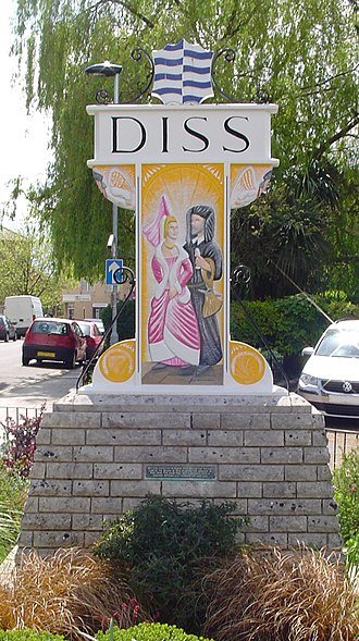 Diss - Place name sign in Diss