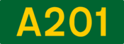 A201 road shield