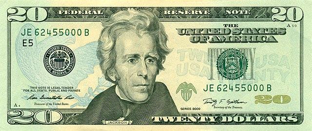 20 долларов, современный вид