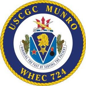 USCGC Munro (WHEC-724) - Image: USCGC Munro crest