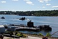 USS Annapolis (SSN 760) passes by the historic ship USS Nautilus.jpg