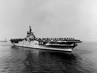 USS Boxer (CV-21) - Boxer in San Francisco after her return from the Korean War in November 1953.
