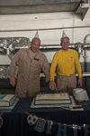 USS Carl Vinson CO, EO celebrate birthdays 141101-N-UW005-055.jpg