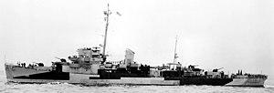 USS Douglas L. Howard (DE-138) underway off New York City (USA) on 1 September 1944 (BS 71829)