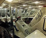 USS Lexington (CVA-16) hangar bay view 1956.jpg