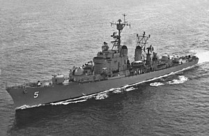USS Wilkinson (DL-5) underway in late 1950s