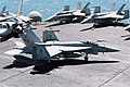 US Navy 030328-N-5796A-025 An F-A-18C Hornet assigned to the Eagles of Strike Fighter Squadron One One Five (VFA 115) taxies to one of four catapults.jpg