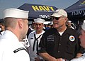 US Navy 040403-N-1328C-520 Terry Bradshaw, owner of ^14 Busch series racecar, visits with Sailors at Texas Motor Speedway during the O'Reilly 300 NASCAR Busch Series race in Ft. Worth, Texas.jpg